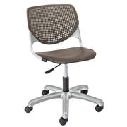Latitude Run Panton Poly Task Mid-Back Drafting Chair; Brownstone/Brownstone