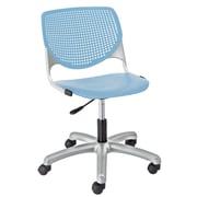 Latitude Run Panton Poly Task Mid-Back Drafting Chair; Sky Blue/Sky Blue