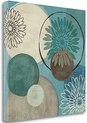 Tangletown Fine Art 'Flora Mood I' Graphic Art Print on Canvas; 25'' H x 25'' W