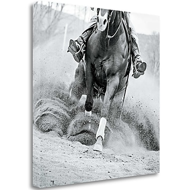 Tangletown Fine Art 'Reining in' Photographic Print on Wrapped Canvas; 35'' H x 35'' W