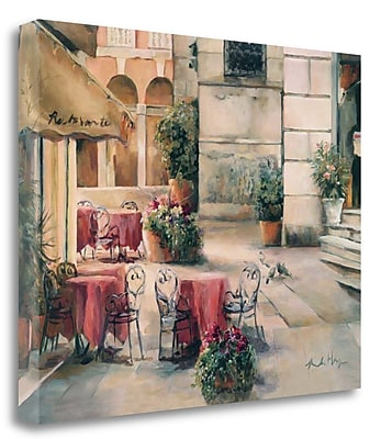 Tangletown Fine Art 'Plaza Cafe' Print on Canvas; 21'' H x 26'' W