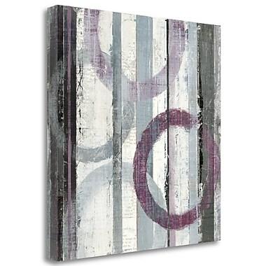 Tangletown Fine Art 'Plum Zephyr II' Print on Wrapped Canvas; 25'' H x 25'' W