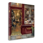 Tangletown Fine Art 'Parisian Wine Shop Red Crop' Print on Wrapped Canvas; 20'' H x 20'' W