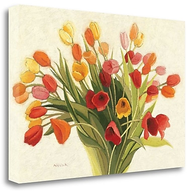 Tangletown Fine Art 'Spring Tulips' Print on Canvas; 26'' H x 39'' W