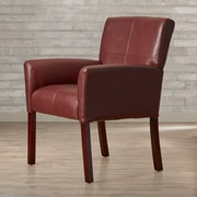 Varick Gallery Milliken Leather Executive Lounge Chair; Burgundy