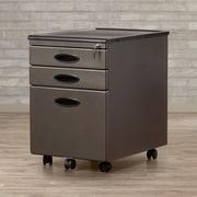 Varick Gallery Feltonville 3 Drawer Filing Cabinet; Pewter/Black