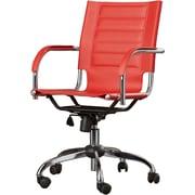 Varick Gallery Figueroa Desk Chair; Red