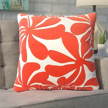 Varick Gallery Monterey Throw Pillow; Red