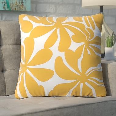 Varick Gallery Monterey Throw Pillow; Yellow