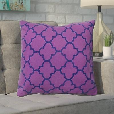 Varick Gallery Arbogast 100pct Cotton Throw Pillow; Purple