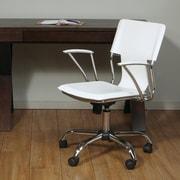 Varick Gallery Arlingham Mid-Back Desk Chair; White