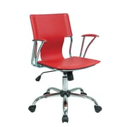 Varick Gallery Arlingham Mid-Back Desk Chair; Red
