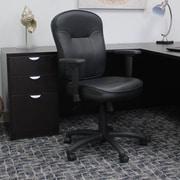 Varick Gallery Passyunk High-Back Leather Desk Chair; Adjustable Arms