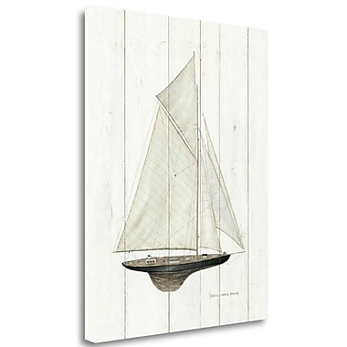 Tangletown Fine Art 'Sailboat I' Graphic Art Print on Canvas; 45'' H x 35'' W