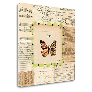 Tangletown Fine Art 'Hope Butterfly' Graphic Art Print on Wrapped Canvas; 20'' H x 20'' W