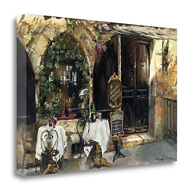 Tangletown Fine Art 'Meeting at the Cafe' Print on Canvas; 20'' H x 29'' W