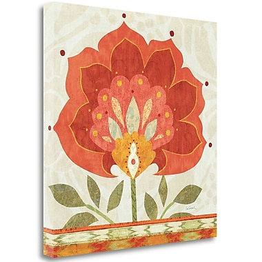 Tangletown Fine Art 'Ikat Bloom I' Print on Wrapped Canvas; 25'' H x 25'' W