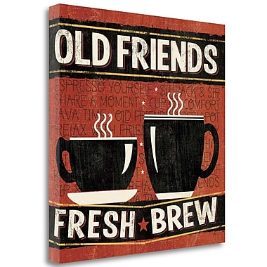 Tangletown Fine Art 'Coffee Roasters IV' Graphic Art Print on Wrapped Canvas; 20'' H x 20'' W