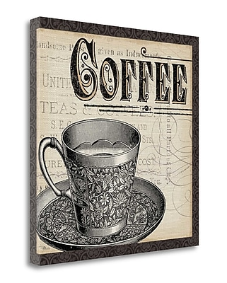 Tangletown Fine Art 'Antique Cafe I w/ Border' Vintage Advertisement on Wrapped Canvas