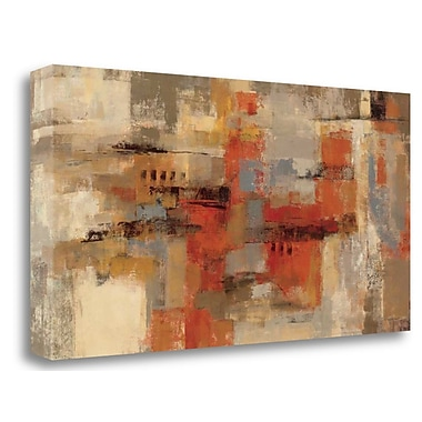 Tangletown Fine Art 'City Wall' Print on Wrapped Canvas; 17'' H x 34'' W