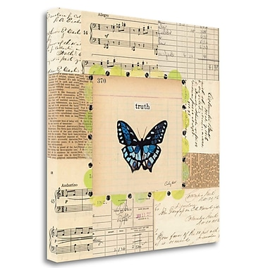 Tangletown Fine Art 'Truth Butterfly' Graphic Art Print on Wrapped Canvas; 20'' H x 20'' W