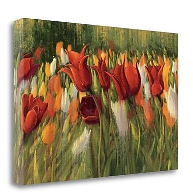 Tangletown Fine Art 'Tipsy Tulips' Print on Canvas; 16'' H x 24'' W