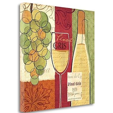 Tangletown Fine Art 'Wine and Grapes II' Vintage Advertisement on Wrapped Canvas; 24'' H x 24'' W