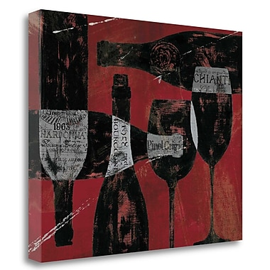 Tangletown Fine Art 'Wine Selection Red' Vintage Advertisement on Canvas; 25'' H x 31'' W