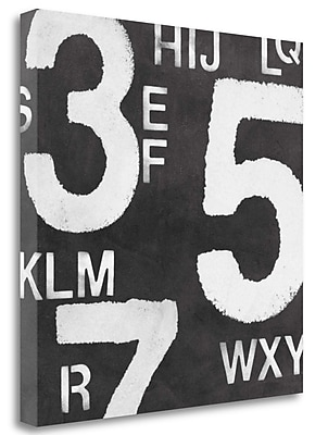Tangletown Fine Art 'Black and White Letters and Numbers' Graphic Art Print on Wrapped Canvas