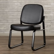Varick Gallery Payakumbuh Armless Guest / Reception Chair; Black
