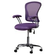 Varick Gallery Alves Mid-Back Mesh Desk Chair; Purple