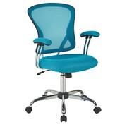 Varick Gallery Alves Mid-Back Mesh Desk Chair; Blue