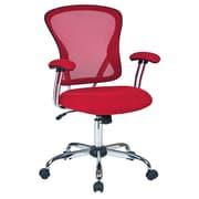 Varick Gallery Alves Mid-Back Mesh Desk Chair; Red