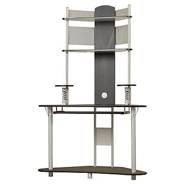 Varick Gallery Corner Computer Desk; Silver/Black