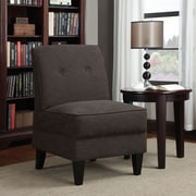 Varick Gallery Klein Slipper Chair; Chocolate Linen