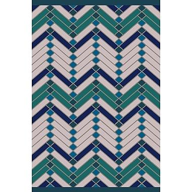 Varick Gallery Wellow Green/Blue Area Rug; 2' x 3'