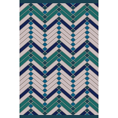 Varick Gallery Wellow Green/Blue Area Rug; 5' x 7'6''