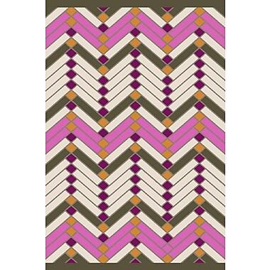 Varick Gallery Wellow Hand Woven Beige/Pink Area Rug; 4' x 6'
