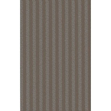 Varick Gallery Tormarton Hand-Woven Brown/Gray Area Rug; 5' x 8'