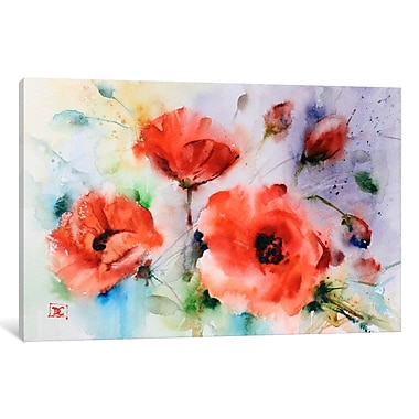 Varick Gallery Poppies by Dean Crouser Print Painting on Wrapped Canvas; 8'' H x 12'' W x 0.75'' D