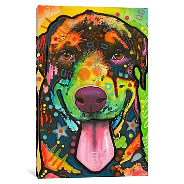 Varick Gallery Rottie Pup Graphic Art on Wrapped Canvas; 26'' H x 18'' W x 1.5'' D