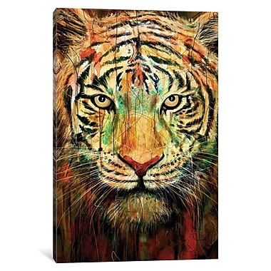 Varick Gallery Tiger II Graphic Art on Wrapped Canvas; 18'' H x 12'' W x 0.75'' D