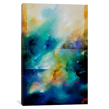 Varick Gallery Aqua Breeze by CH Studios Graphic Art on Wrapped Canvas; 12'' H x 8'' W x 0.75'' D