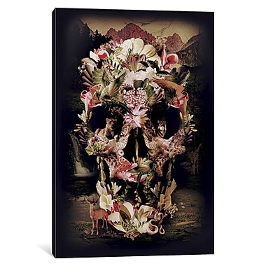 Varick Gallery Jungle Skull by Ali Gulec Graphic Art on Wrapped Canvas; 40'' H x 26'' W x 0.75'' D
