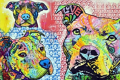 Varick Gallery Thoughtful Pit Bull This Years II Graphic Art on Wrapped Canvas