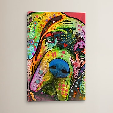 Varick Gallery 'Mastiff' by Dean Russo Graphic Art on Wrapped Canvas; 26'' H x 18'' W x 0.75'' D