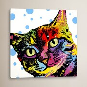 Varick Gallery 'The Pop Cat' by Dean Russo Graphic Art on Wrapped Canvas; 26'' H x 26'' W x 0.75'' D