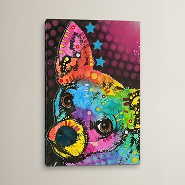 Varick Gallery Huh? Graphic Art on Wrapped Canvas; 12'' H x 8'' W x 0.75'' D