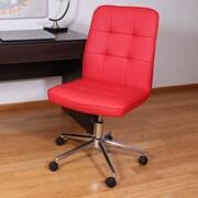 Varick Gallery Mid-Back Desk Chair; Red