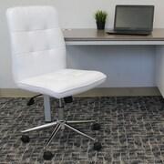 Varick Gallery Mid-Back Desk Chair; Bright White
